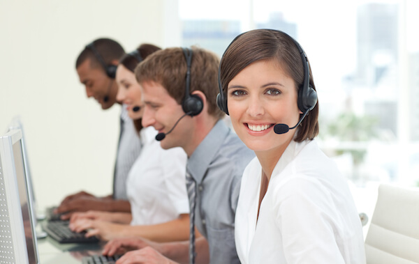 our call center for support