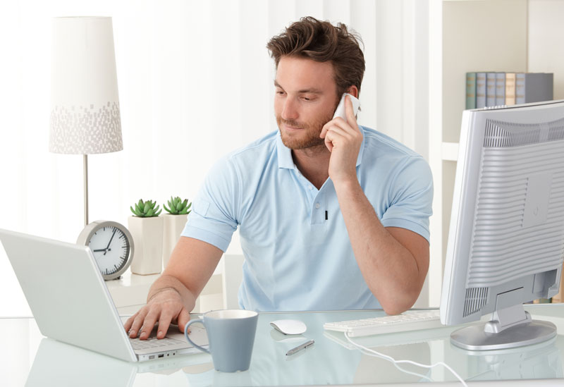 man calling about his returns which is known in the 3PL industry as reverse logistics in southern CA
